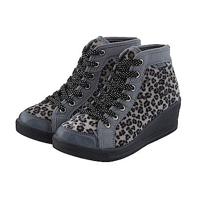 【TOPGIRL】豹紋增高鞋-灰