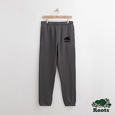 Roots-男裝- 原創棉質長褲-灰