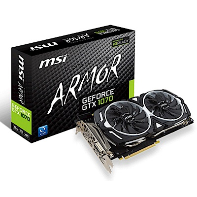 (無卡分期12期)MSI微星 GeForce GTX 1070 ARMOR 8G OC