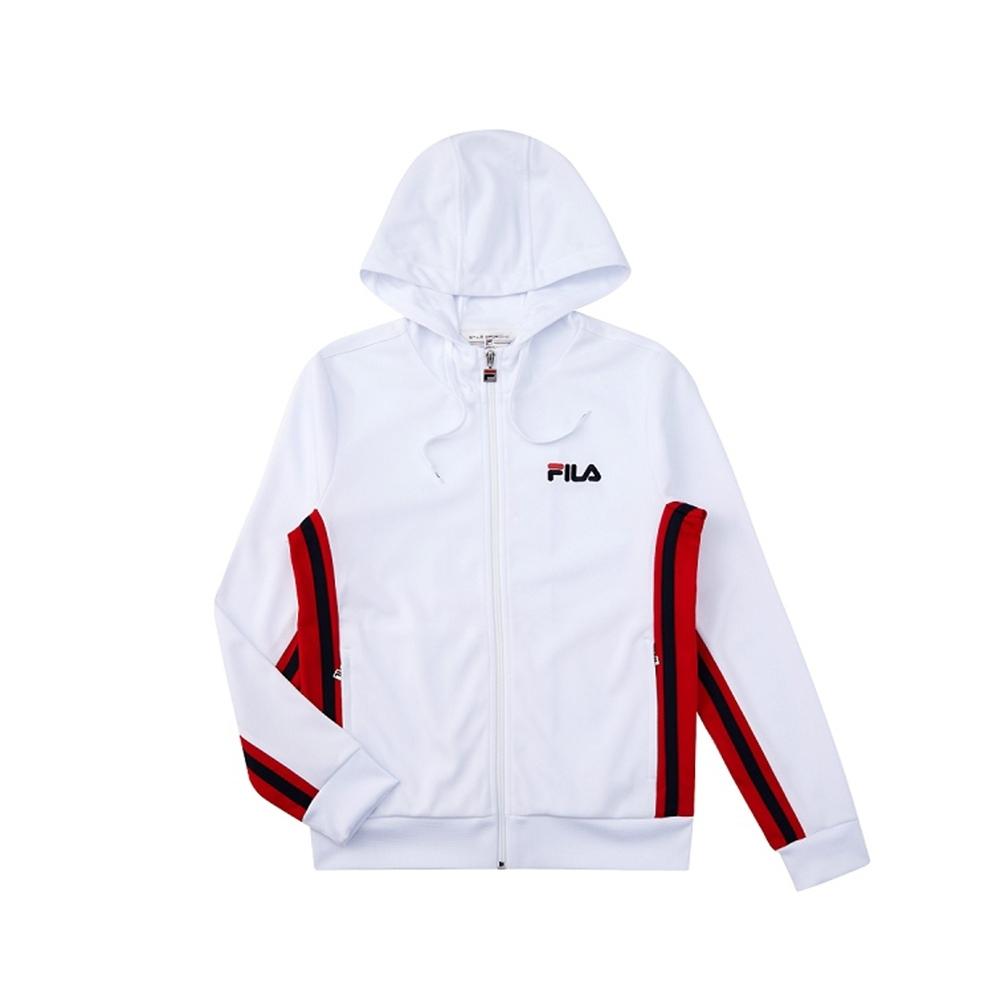 FILA 女吸濕排汗外套-白色 5JKV-1490-WT