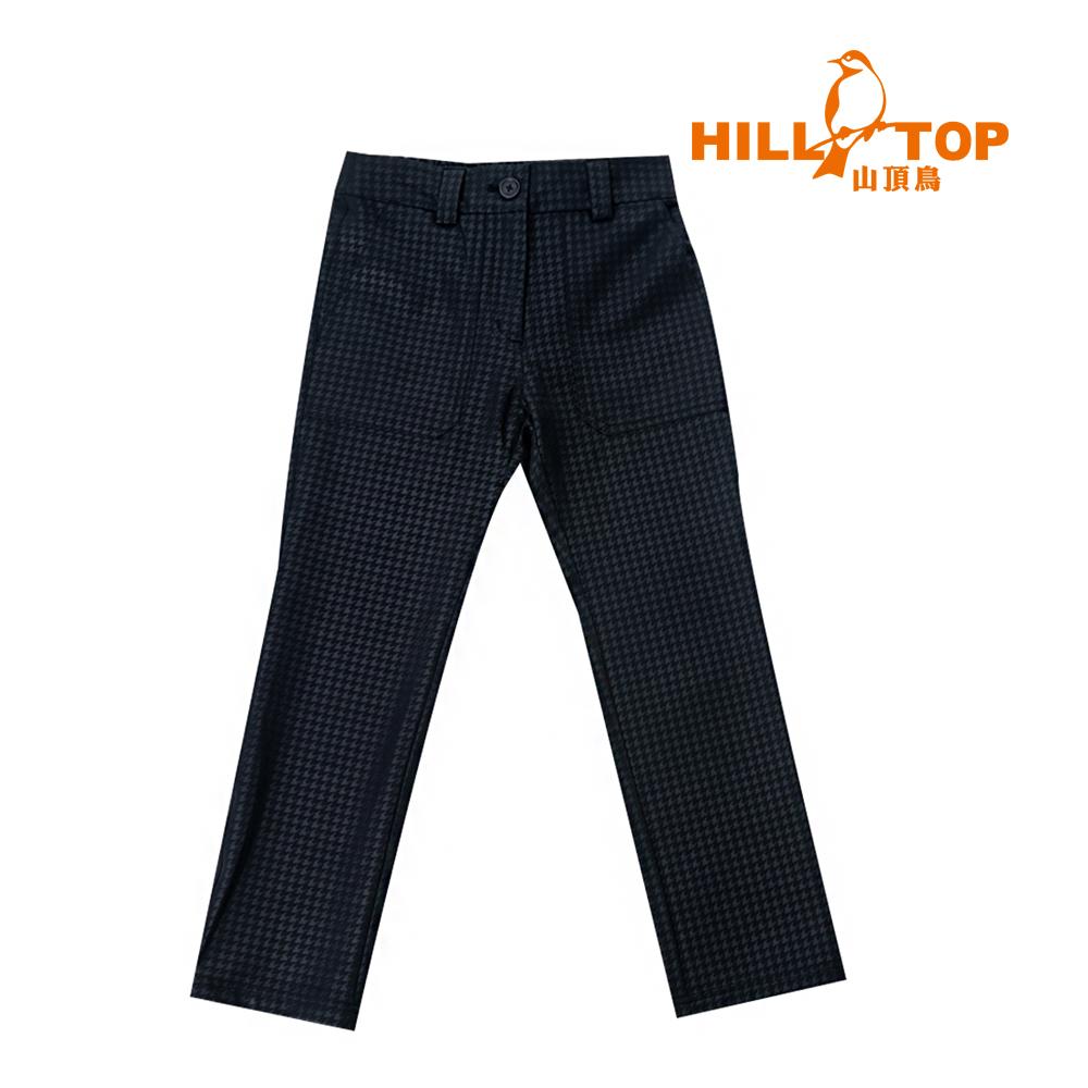【hilltop山頂鳥】童款超撥水彈性長褲H31CA6黑色