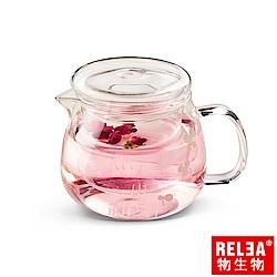 香港RELEA物生物 小花耐熱玻璃泡茶壺500ml(附濾茶器)