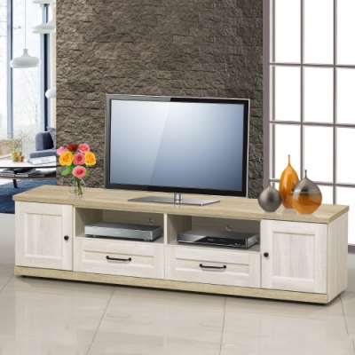 MUNA 泰倫斯6尺白橡木色電視櫃/長櫃  180X40X47cm