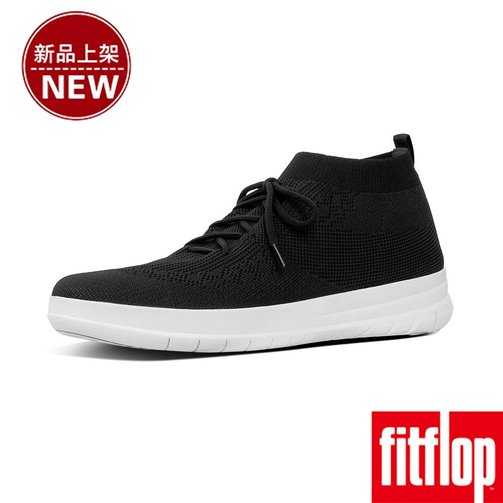 FitFlop UBERKNIT LACE-UP SNEAKERS-黑色