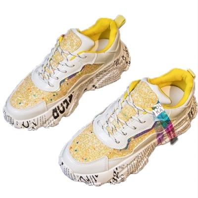 韓國KW美鞋館 時尚舒心潮流螢光運動鞋-螢光黃