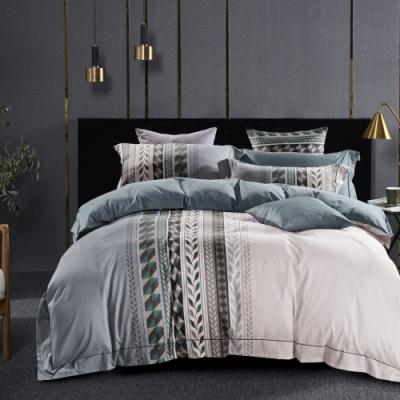 La Lune 台灣製300織紗長纖絨棉雙人加大床包枕套3件組 季夏之歌