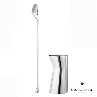 Georg Jensen 喬治傑生 SKY 不鏽鋼攪拌匙和量酒器組