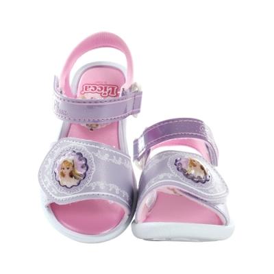 魔法Baby 女童鞋 台灣製LICCA公主正版閃燈涼鞋 電燈鞋 sa15647