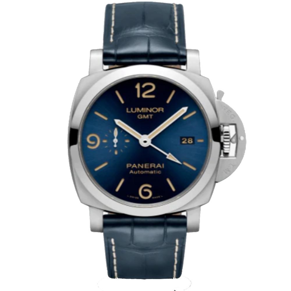 PANERAI沛納海Luminor GMT兩地時間 PAM01033 自動上鍊腕錶-44mm