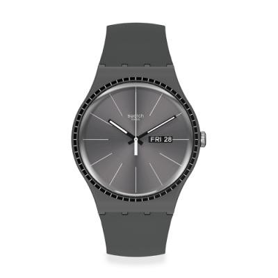 Swatch New Gent 原創系列手錶 GREY RAILS -41mm