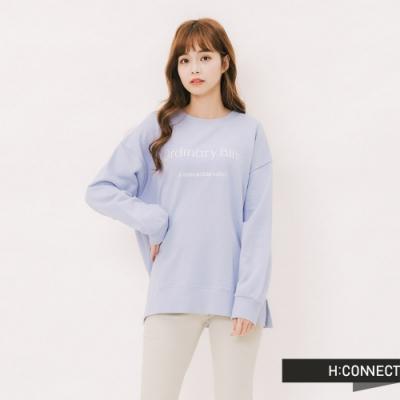 H:CONNECT 韓國品牌 女裝 - 甜美繡字大學T - 紫