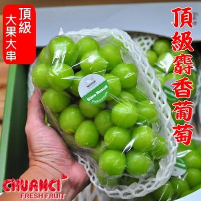 【川琪】頂級韓國麝香葡萄-超大房(約900-1000g)
