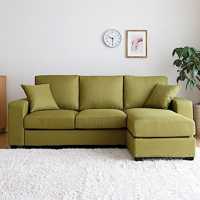 H&D 艾文亮彩獨立筒舒適L型沙發-六色可選