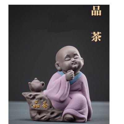 原藝坊 紫沙陶瓷 愜意人生小沙彌茶寵(四款選一)