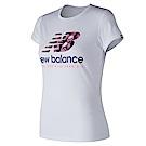 New Balance 短袖上衣 AWT81557WT 女性 白色