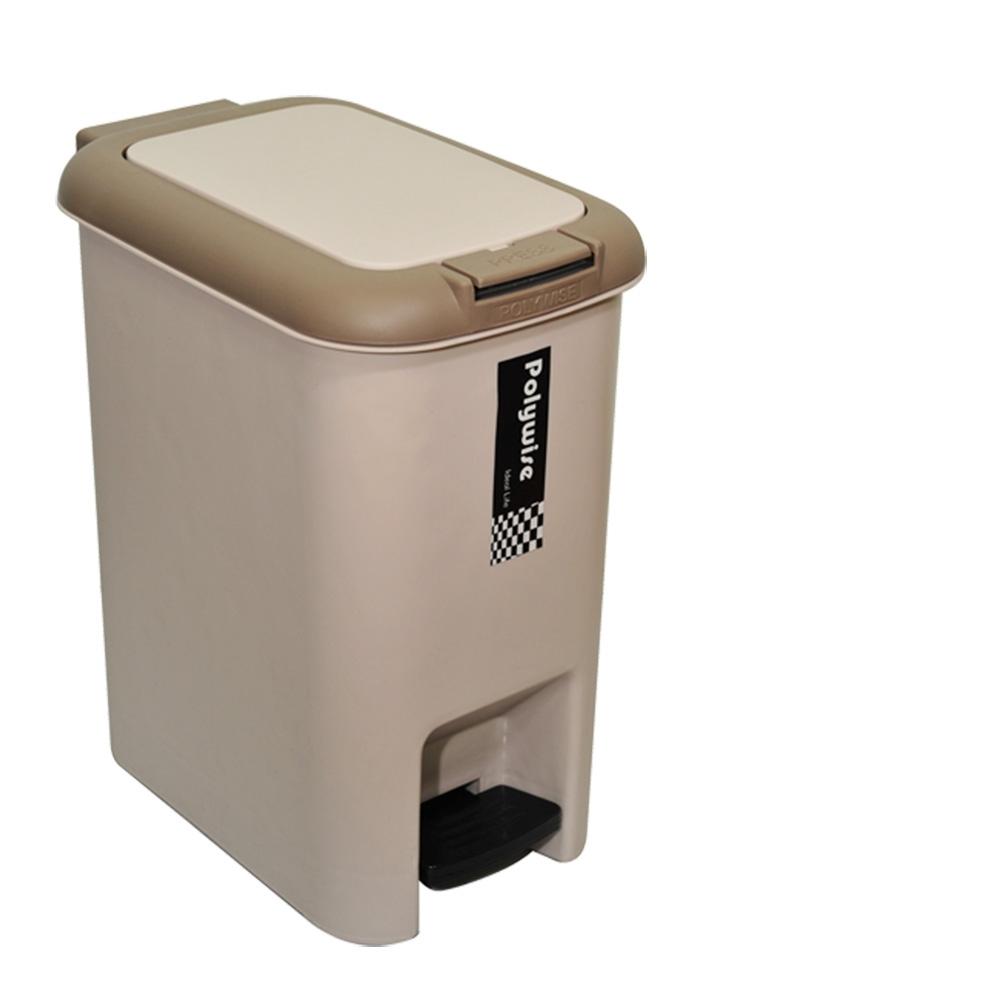 創意達人二用腳踏式垃圾桶18L-1入組