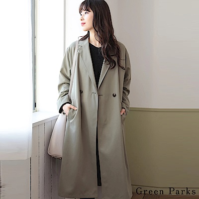 Green Parks 簡約時尚長版風衣