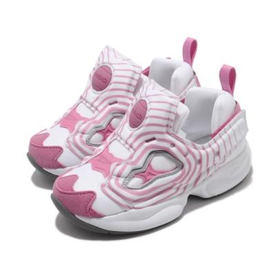 Reebok 休閒鞋 Fury INF 襪套 運動 童鞋 經典款 舒適 輕便 易穿脫 小童 白 粉 FV4504