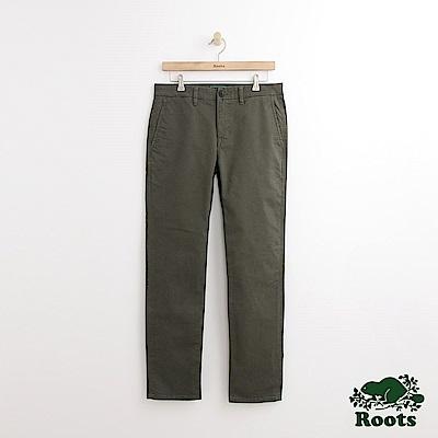 Roots 男裝-金斯頓休閒長褲-綠色