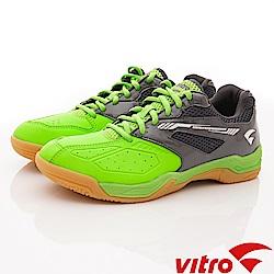 Vitro韓國專業運動品牌-SMASH-B羽球鞋-黑綠(男)