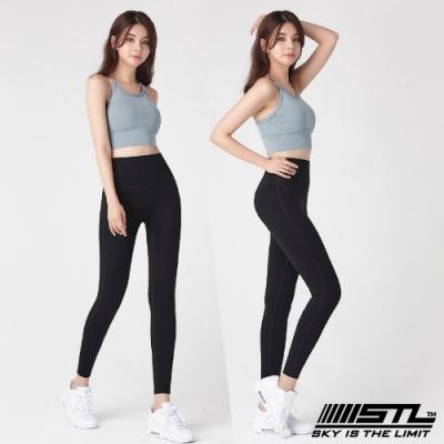 STL Yoga Leggings Free Line 9 韓國瑜珈『無尷尬線』 高腰壓腹 訓練拉提緊身褲 自由曲線 簡約黑 重訓/路跑/登山/瑜珈