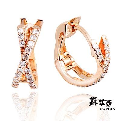 蘇菲亞SOPHIA - 安吉莉娜玫瑰金鑽石耳環