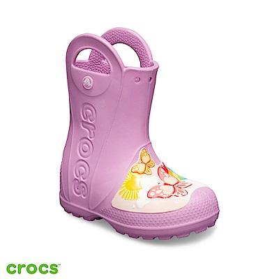 Crocs 卡駱馳 (童鞋) 趣味學院蝴蝶提把雨靴 205650-508