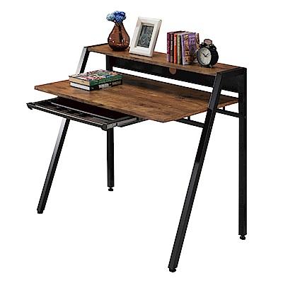 文創集 聖卡托時尚3.2尺雙色書桌/電腦桌-96x58x87cm免組
