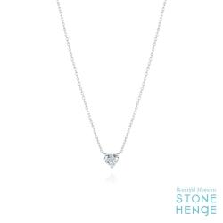 純銀愛心造型鋯石項鍊