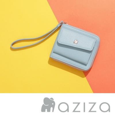aziza AGNES手拎短夾 水藍