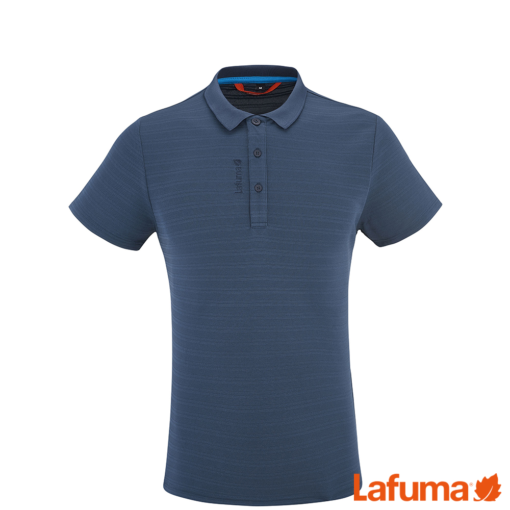 LAFUMA-男TRACK短袖排汗POLO衫-LFV113826730-深藍