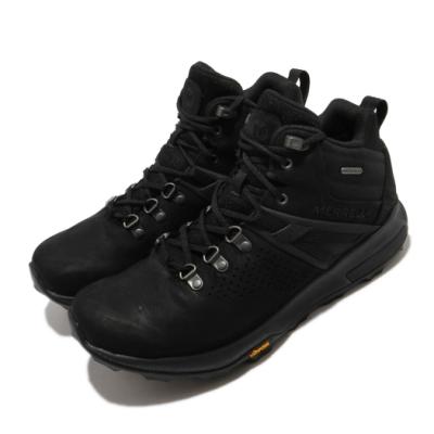 Merrell 戶外鞋 Zion Peak WP 中筒 運動 男鞋 登山 越野 耐磨 黃金大底 防水 黑 銀 ML035357
