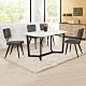 Boden-雷夫格4.7尺工業風石面餐桌椅組合(一桌四椅)-140x85x75cm product thumbnail 1