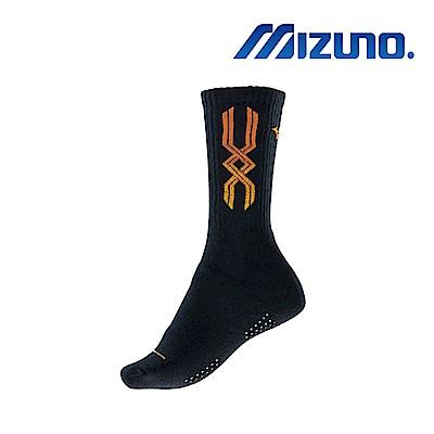 Mizuno 美津濃 女運動厚底襪 5入 黑x橘 32TX810354