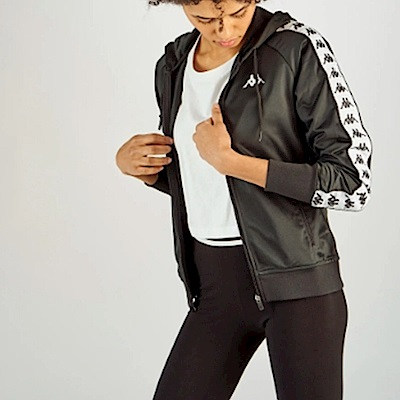 KAPPA義大利 222BANDA女針織運動外套合身版 黑303R5J0A62