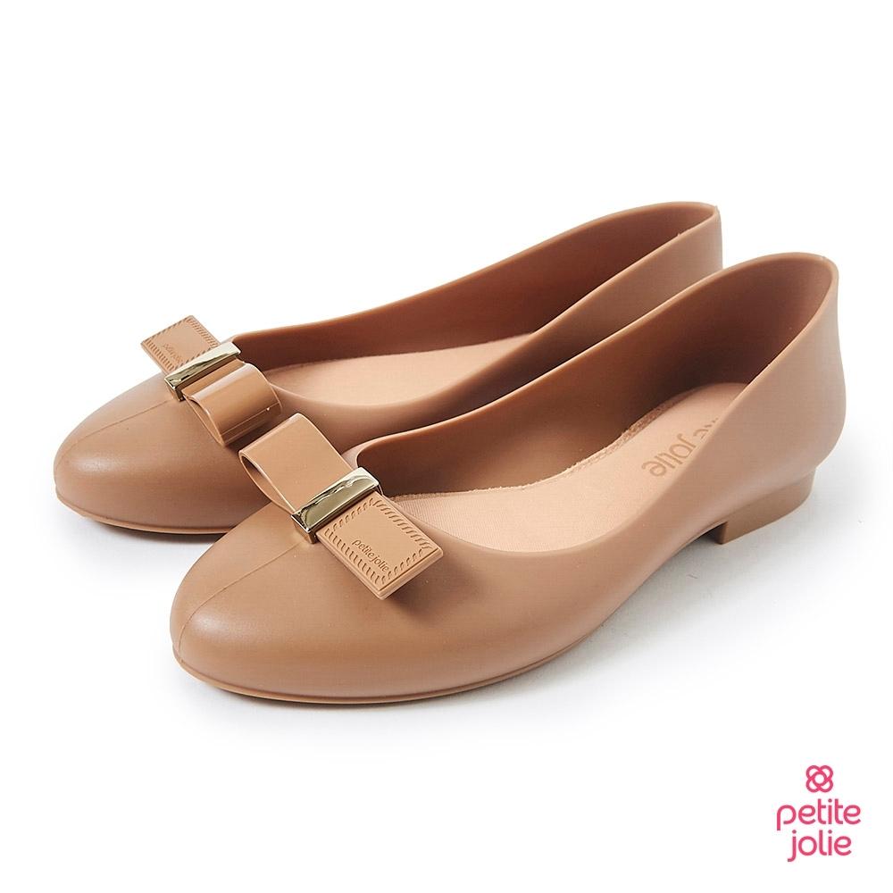 Petite Jolie-可愛小結飾果凍娃娃鞋-牛奶糖