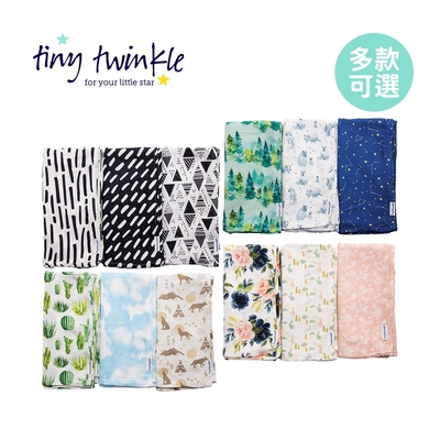Tiny Twinkle 美國紗布巾/包巾120×120cm (3入組) - 多款可選
