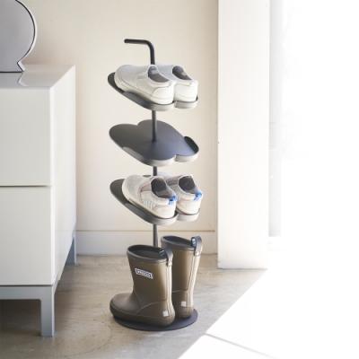 日本YAMAZAKI-tower兒童鞋架(黑)★居家收納/拖鞋架