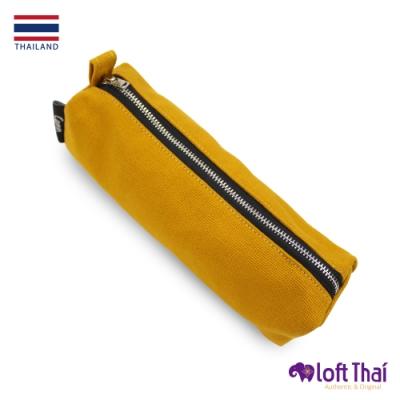 Loft THAI | 泰.筆類小物帆布收納袋 | Mustard