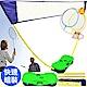 羽毛球網架折疊式便攜式 -贈送羽球拍+球 家用移動羽球網架 product thumbnail 1