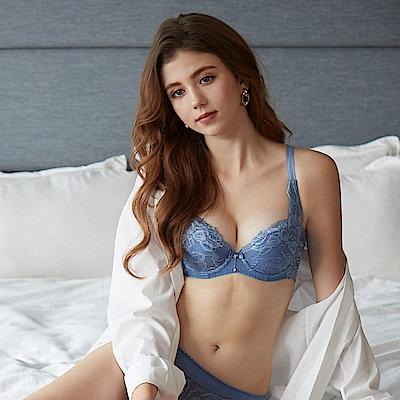 曼黛瑪璉 雙弧內衣  D-G罩杯(紫暮藍)