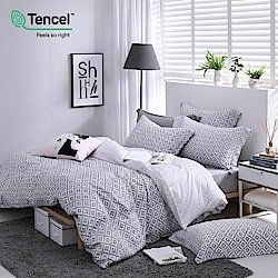 OLIVIA  Oliver  標準雙人床包冬夏兩用被套四件組 300織萊賽爾TENCEL