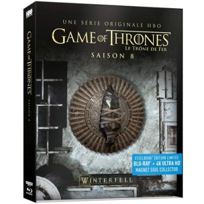 冰與火之歌:權力遊戲 第八季 4K UHD+BD 六碟鐵盒限定版
