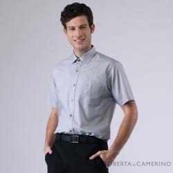 ROBERTA諾貝達 台灣製 合身版 嚴選穿搭 條紋優雅短袖襯衫 灰色