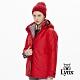 【Lynx Golf】女款防水防風透氣兩件式可拆連帽長袖外套-紅色 product thumbnail 2