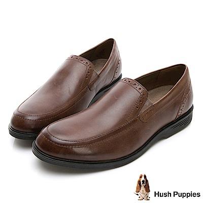 Hush Puppies SHEPSKY 正裝直套式皮鞋-咖啡色