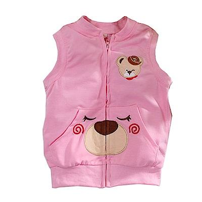 小熊薄背心外套 粉 k60763 魔法Baby