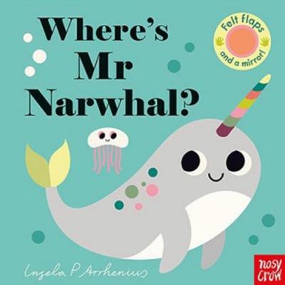 Where s Mrs Narwhal?獨角鯨在哪裡?不織布翻翻書