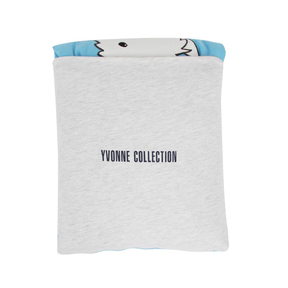 Yvonne Collection領巾狗收納抱枕車用四季被-中藍