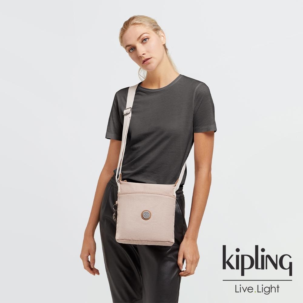 Kipling 活力粉簡約斜背方包-KALAO